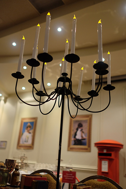 CAN0007 CANDELABRA, Standing Black 13 Arm (Fits Tapered Candles) $15
