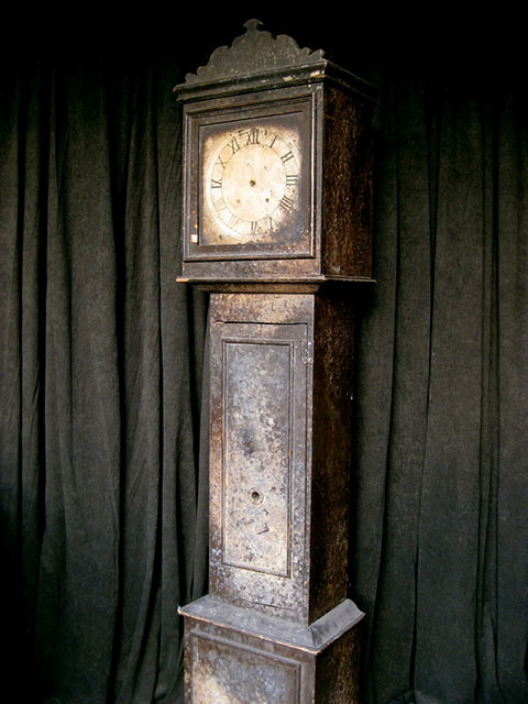CLO0057 CLOCK, Grandfather Clock - Small Vintage $75