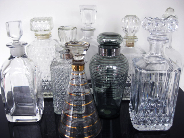 DEC0001 DECANTER, Assorted Glass / Crystal $11.25