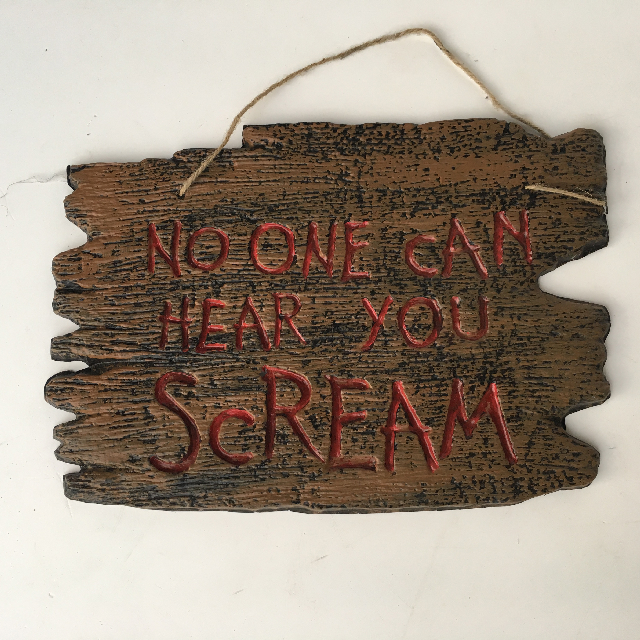 SIG0608 SIGN, Door Plaque - Halloween Scream $10