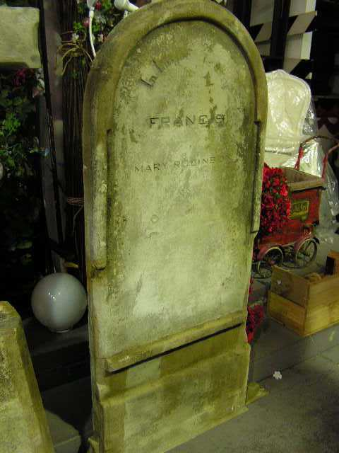 HEA0101 HEADSTONE, Large - Curved Top (170cm H) $137.50