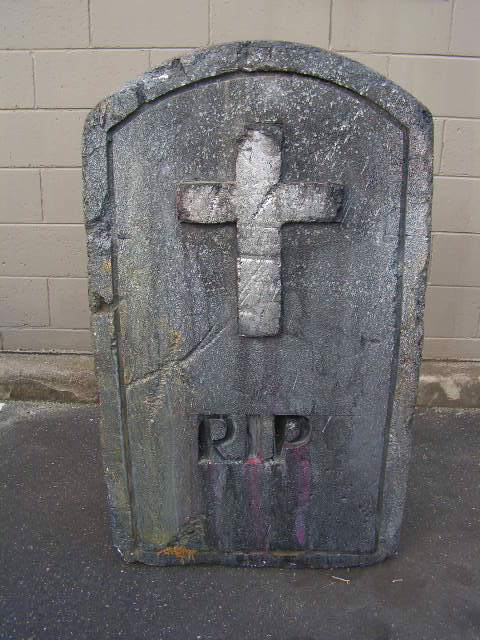 HEA0104 HEADSTONE, Large - w Cross RIP (90x120cm H) $50