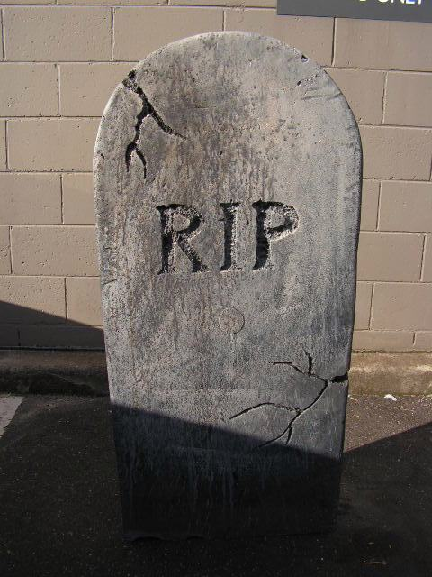 HEA0105 HEADSTONE, Large - RIP (54x118cm H) $37.50