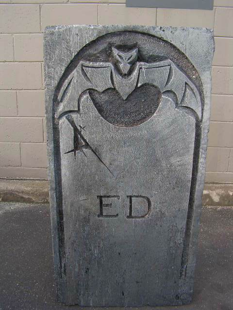 HEA0106 HEADSTONE, Large - ED Bat (60x120cm H) $37.50