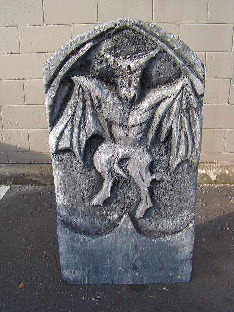 HEA0108 HEADSTONE, Large - Winged Gargoyle (62x120cm H) $37.50
