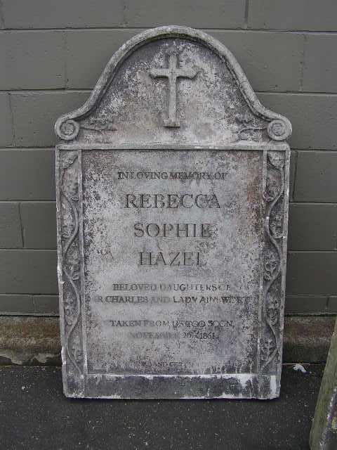 HEA0111 HEADSTONE, Large - Rebecca w Broken Top (75x130cm H) $100