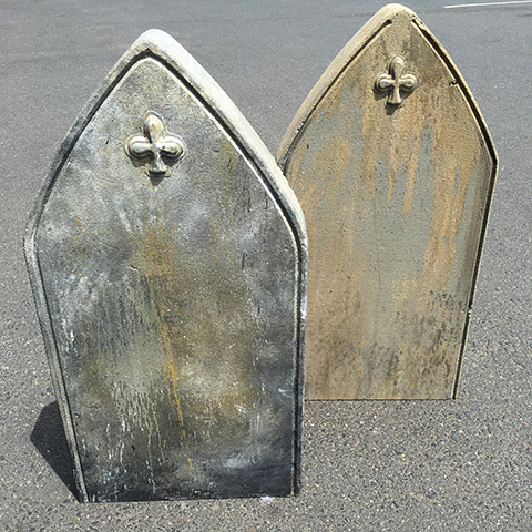 HEA0113 HEADSTONE, Medium - Pointed Arch (100cm H) $75