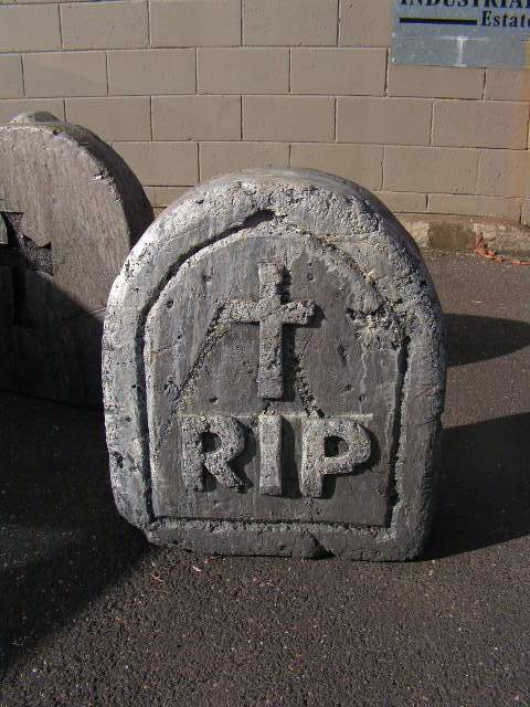 HEA0117 HEADSTONE, Small Cross RIP (60cm H) $30