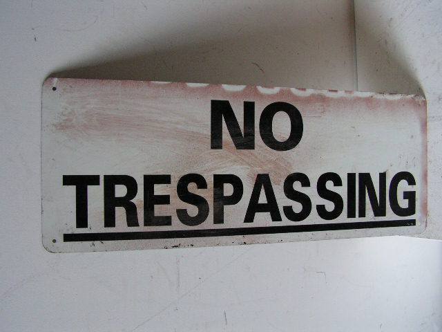 SIG0009 SIGN, No Trespassing $10