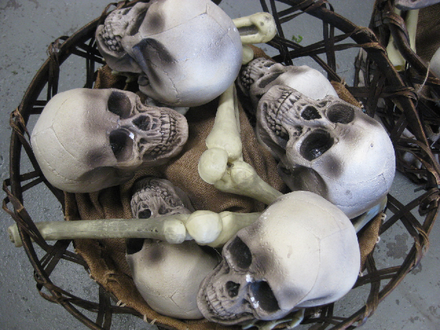 Basket of Skulls & Bones