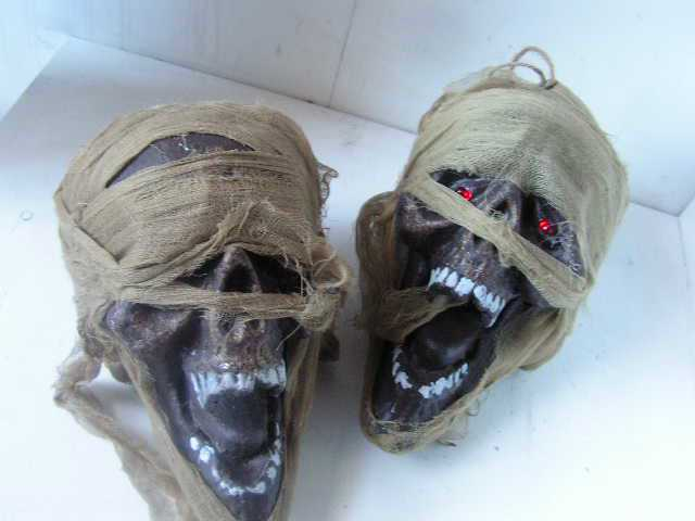 SKU0031 SKULL, Scary Horror Mummy Style 30cm $10