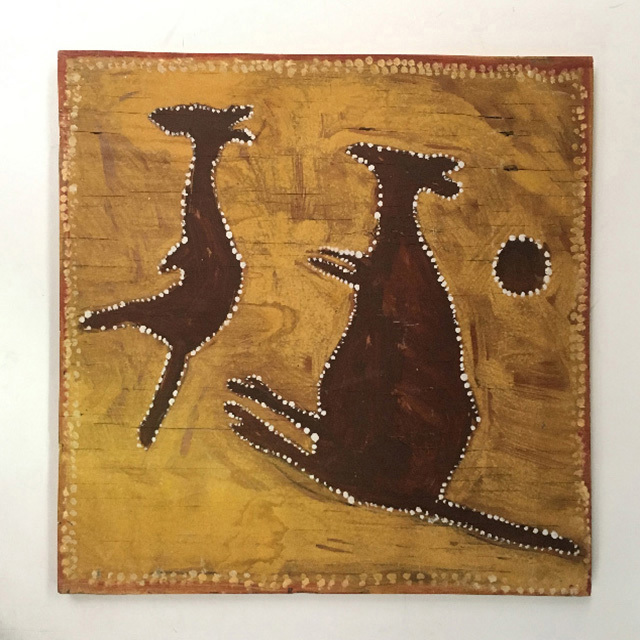 ART0111 ARTWORK, Aboriginal Art - Kangaroos $30