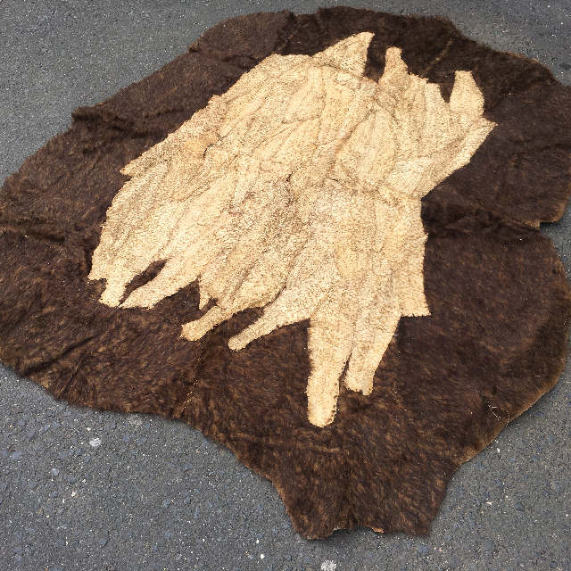 ANI0003 ANIMAL HIDE, Faux Animal Fur w Barramundi Detail 2m x 1.5m $62.50