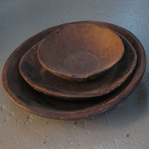 Assorted Wooden Bowls