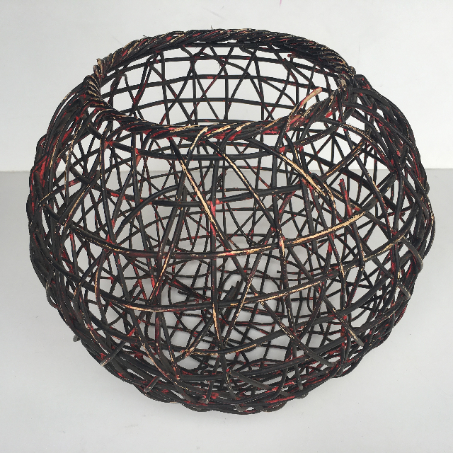 BAS0041 BASKET, Round Dark Red 50cm Dia $11.25