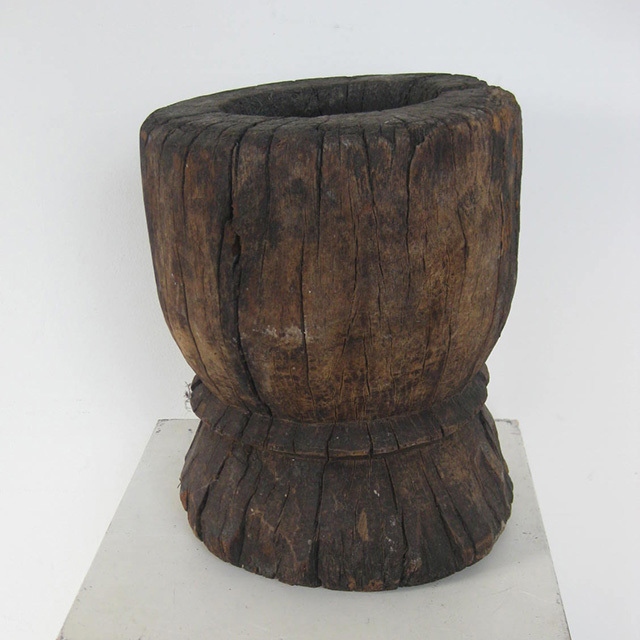 MOR0001 MORTAR, Rustic Carved Log $18.75