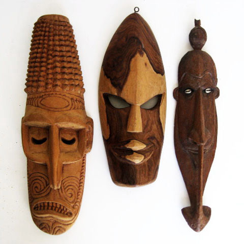 MAS0012 MASK, Medium - Tribal Assorted $8.75