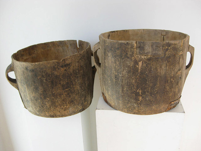 POT0020 POT, Rustic Wooden Storage Pot - 25-30cm $18.75