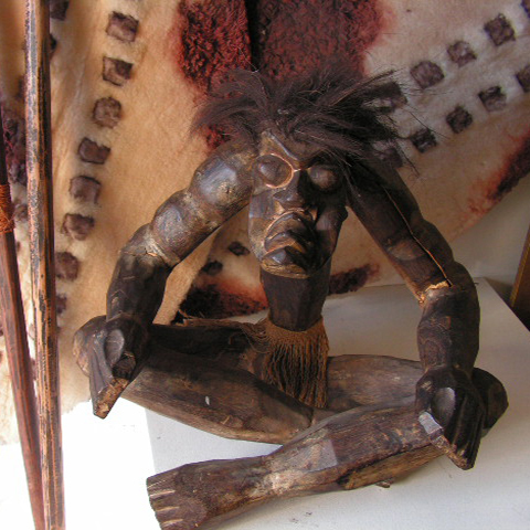 SCU0001 SCULPTURE, Tribal Man Seated $22.50