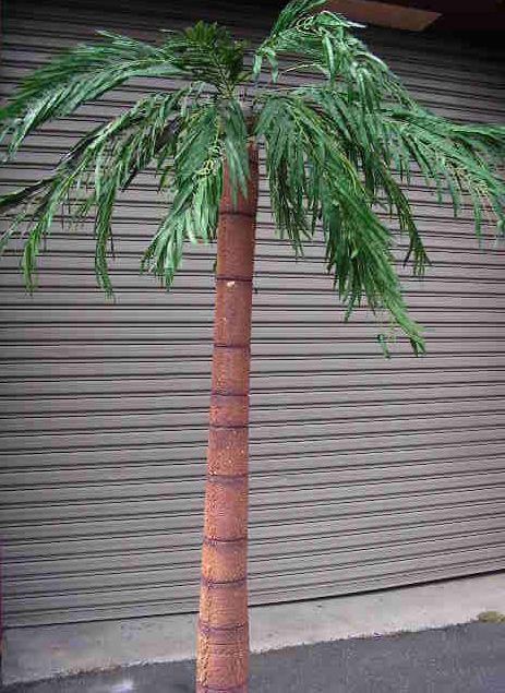 PALM TREE, 2.4m (PAL0004) & 3m (PAL0005) High Freestanding - Styrene $100 Each