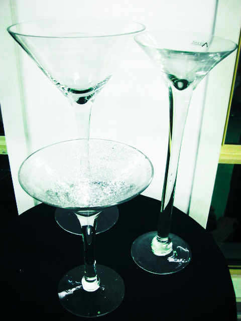 Assorted Oversized Martini Glasses
