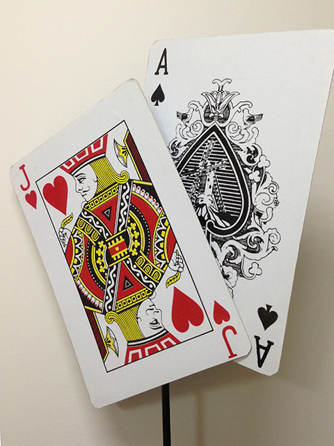 PLA0050 PLAYING CARDS, Oversized 27cm x 42cm High $6.25 - Shown on Banner Stand (extra)