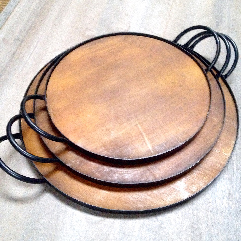 TRA0056 TRAY, Cheese Platter Set of 3 - Round $12.50