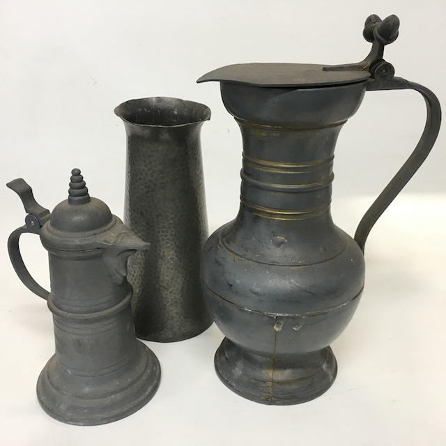 Selection of Pewter Jugs