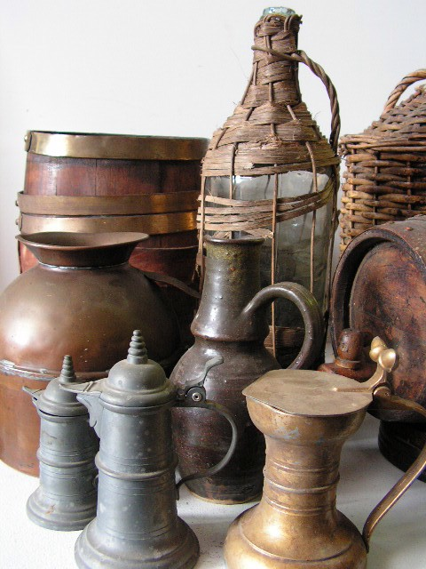 Medieval Collection of Jugs and Bottles
