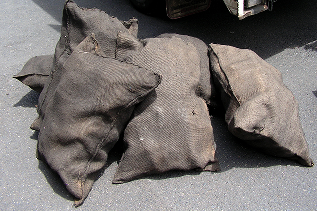 SAC0016 SACK, Blackened Coal Sacks - Large $15