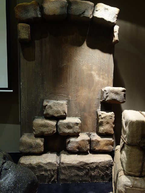 STO0050 STONE RUINS, Freestanding Stone Wall 1.2m W x 2.4m H $150