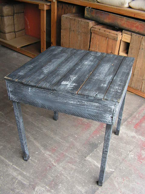 TAB0001 TABLE, Large - Rustic Black & Grey 71x74x80cm H $50