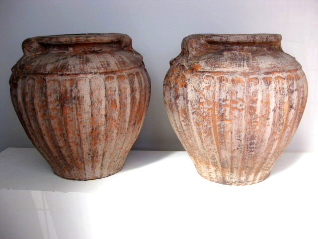 Ancient pots - large pair (1)