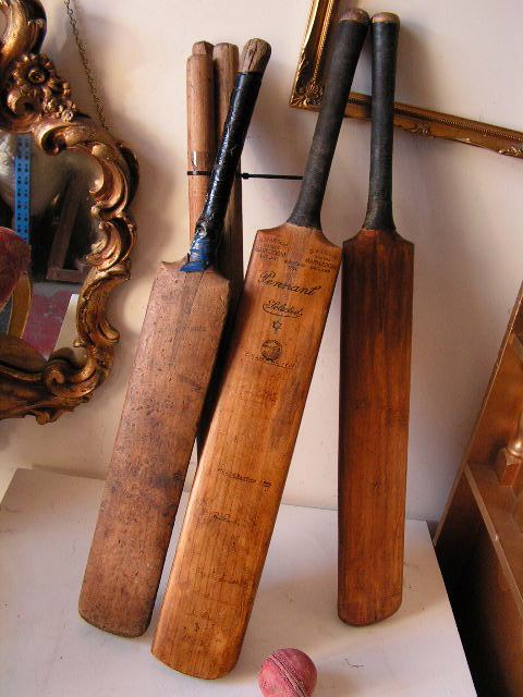Bradman's cricket bats (not really)!