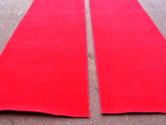 Red carpets - we have a few different sizes