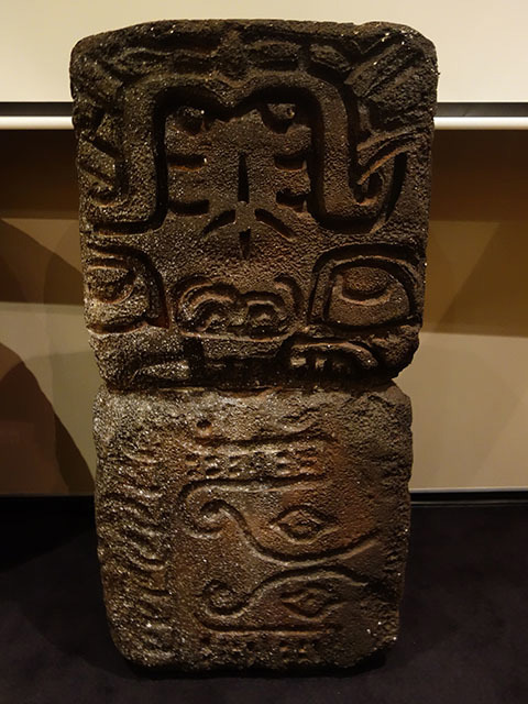 Stone tiki block x 4, 120cm high