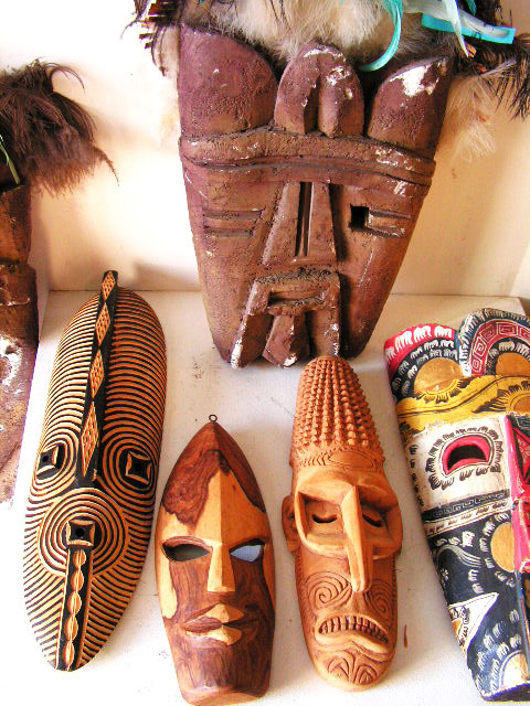 Tribal masks - carved wood (2)