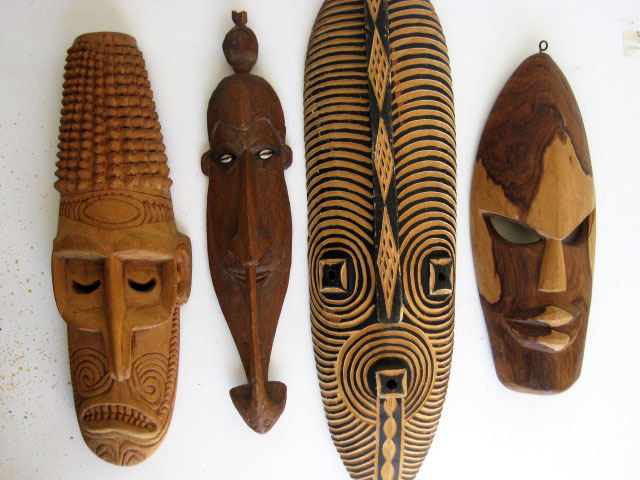 Tribal masks - carved wood (4)