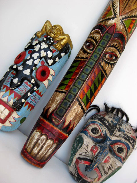 Tribal masks - painted