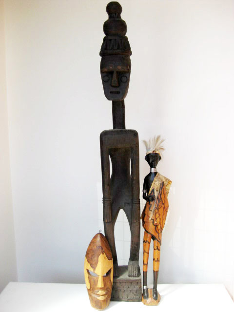Tribal sculpture collection