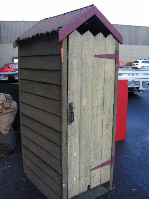 OUT0001 OUTHOUSE, Freestanding Outdoor Aussie Dunny $187.50