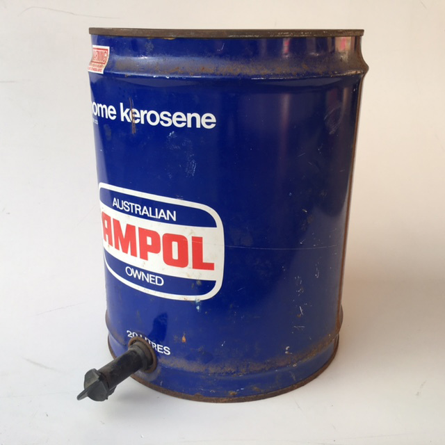 DRU0001 DRUM, Oil Drum - 20L Blue Ampol $13.75