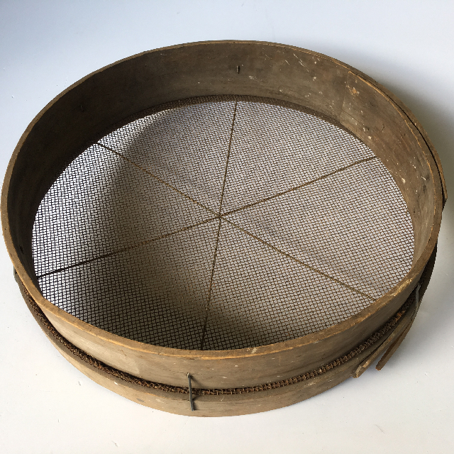 SIE0052 SIEVE, Gold Panning - Wooden Rim and Mesh (50cm D) $18.75