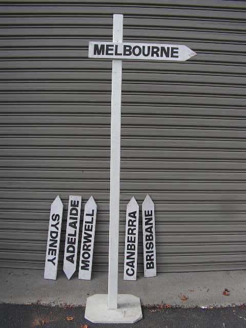 SIG0400 SIGN, Road Post - White (For Pointer Signs) 2.4m H (50cmx50cmBase) $23.75