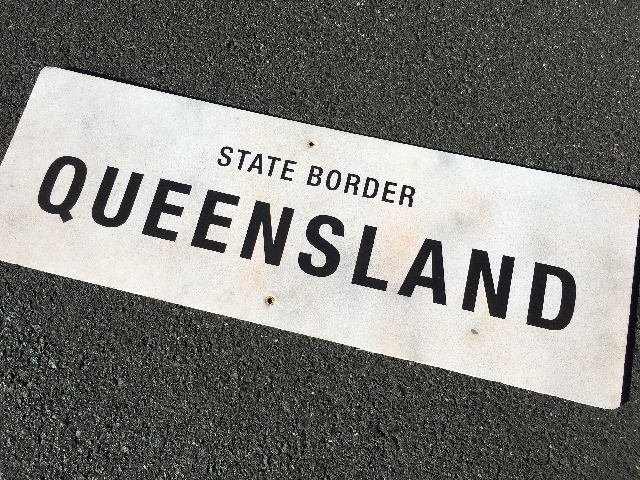 SIG0682 SIGN, Road - Queensland State Border Foam Core 1.2m x 40cm $30