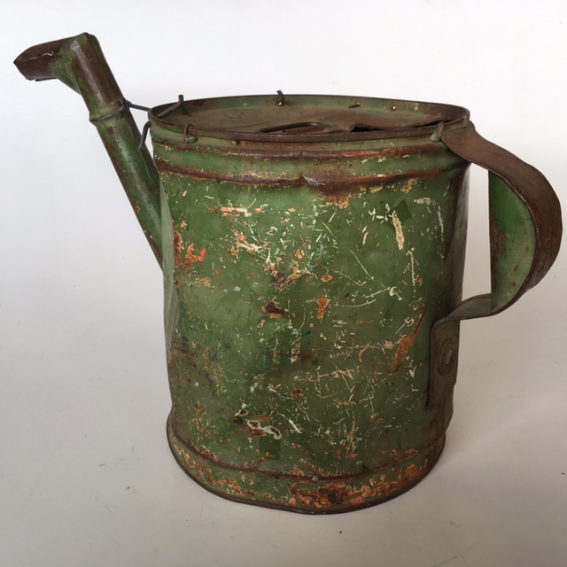 WAT0104 WATERING CAN, Large Green Metal $18.75