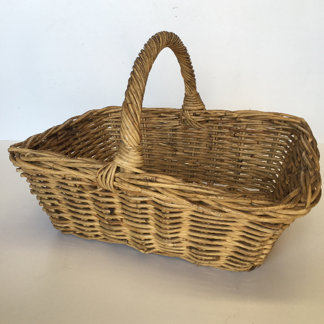 BAS0003 BASKET, Shopping - Classic Rectangular Wicker $11.25
