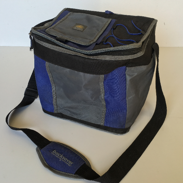 COO0101 COOLER, Black Blue Grey Canvas $7.50