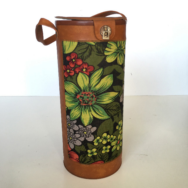 COO0105 COOLER, Retro Floral Bottle Holder $10