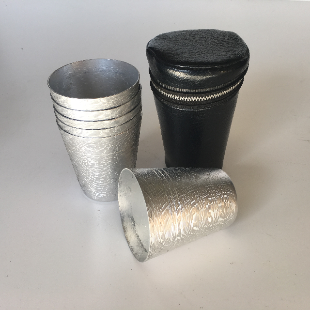 CUP0011 CUP SET, Aluminium Cups in Leather Case $5